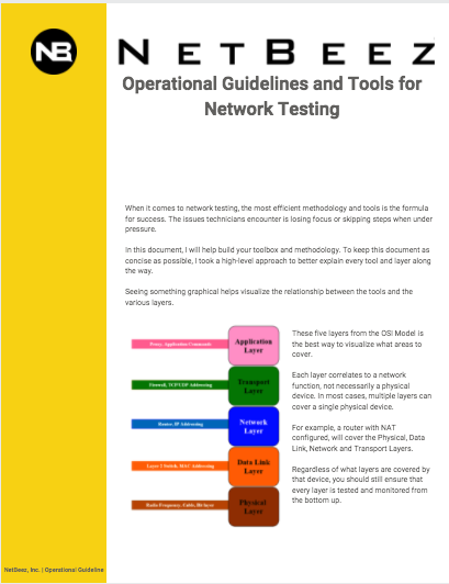 NetBeez | Operational Guidelines and Tools for Network Testing